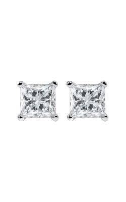 Albert's 14k 3/4ctw Princess Diamond Stud Earrings ER10102-4WF product image