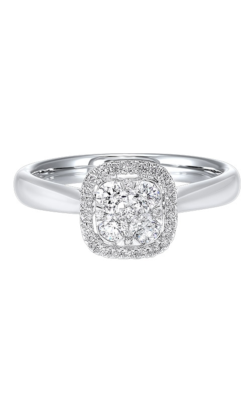 Albert's 14k White Gold 1/2ctw Cushion Diamond Ring RG10566-4WC product image