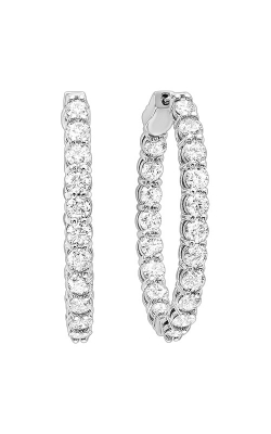 Albert's 14k White Gold 7ctw Diamond Hoop Earrings ER10129-4WF product image