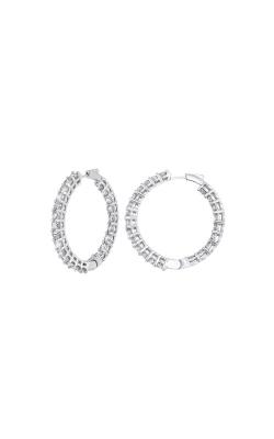 Albert's 14k 3ctw Round Diamond Hoop Earrings ER10314-4WF product image