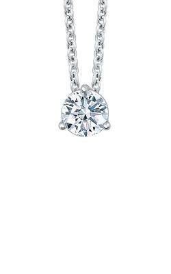 Albert's 14k White Gold 1/2ctw Diamond Solitaire Necklace MSP3 product image