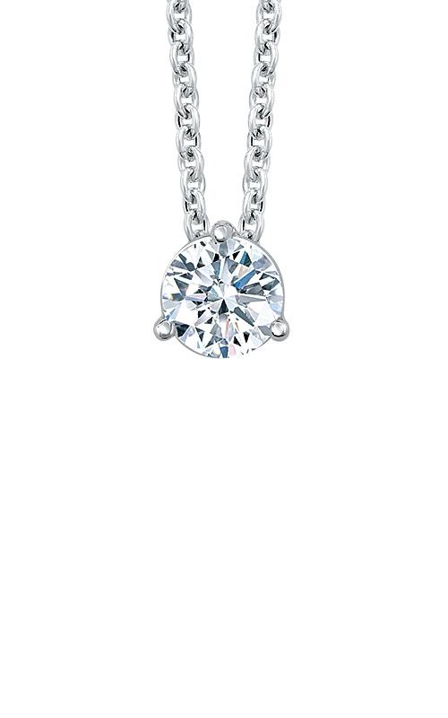 Albert's 14k White Gold 1ctw Diamond Solitaire Necklace MSP6 product image