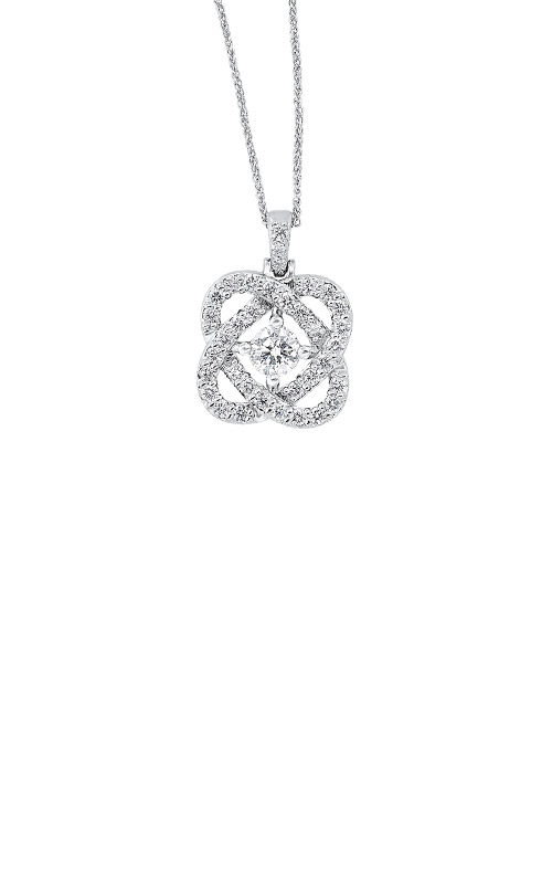 Albert's 14k White Gold 1ctw Diamond Necklace PD10457-4WF product image