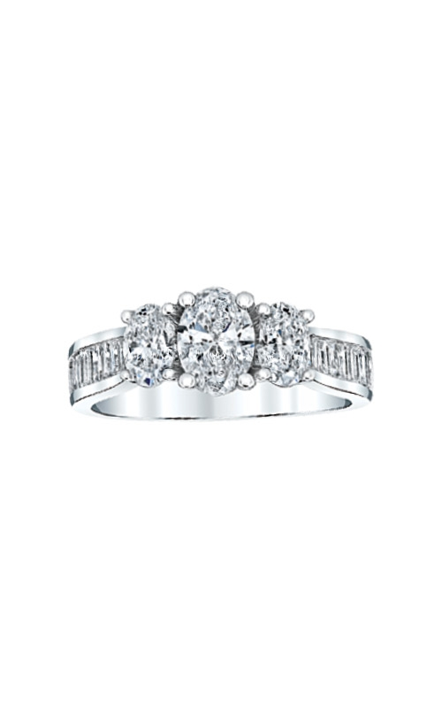 Albert's 14k White Gold 2ctw 3 Stone Engagement Ring RT-2605A44W45 product image