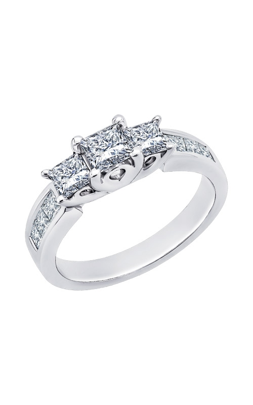 Albert's White Gold 2ctw 9 Stone Princess Engagement Ring RFP0008-04W product image