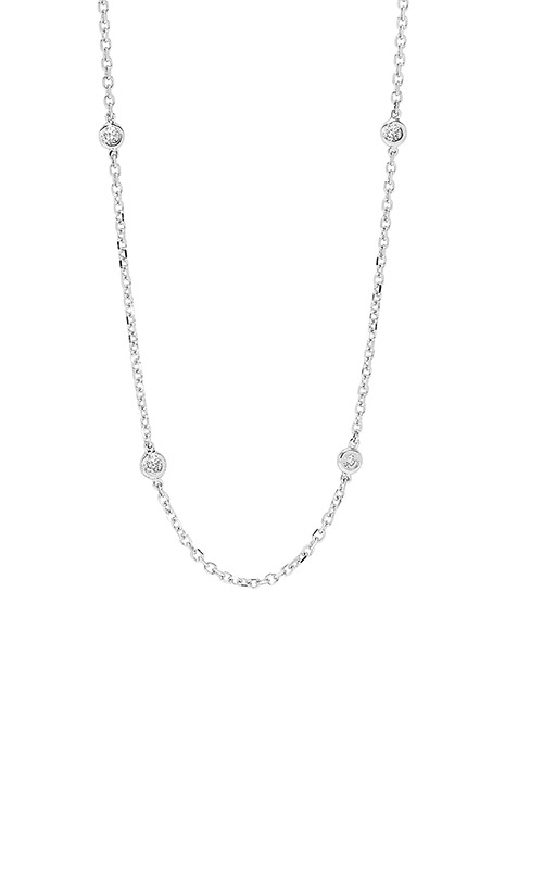 Albert's 14k White Gold 1ct Diamond by the Yard Necklace NK10019-4WF product image