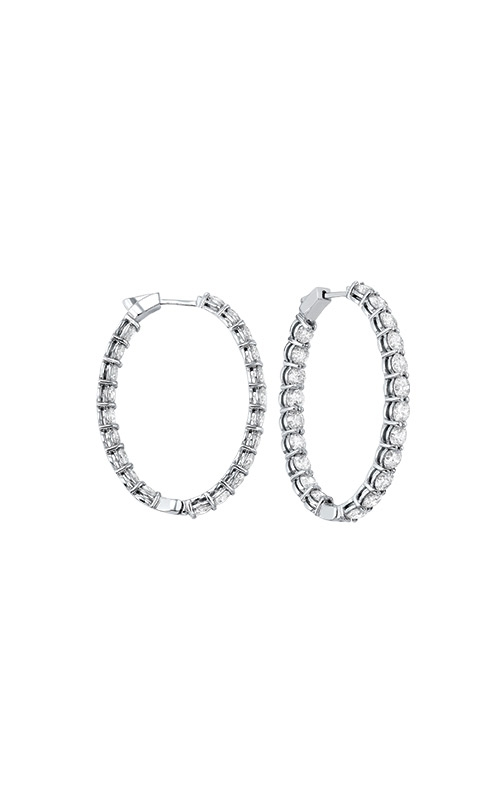 Albert's 14k White Gold 5ctw Diamond In and Out Hoop Earrings ER10128-4WF  product image
