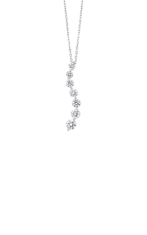 Albert's 14k White Gold 1ctw Diamond Journey Necklace PD10562-100-4WF product image