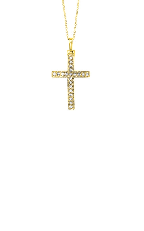 Albert's 14k Yellow Gold 1/2ctw Diamond Cross Necklace PD10524_100-4YD product image
