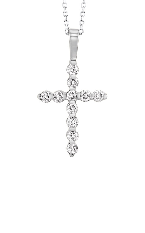 Albert's 14k White Gold 1/5ctw Diamond Cross Necklace HDCR006-4WD product image
