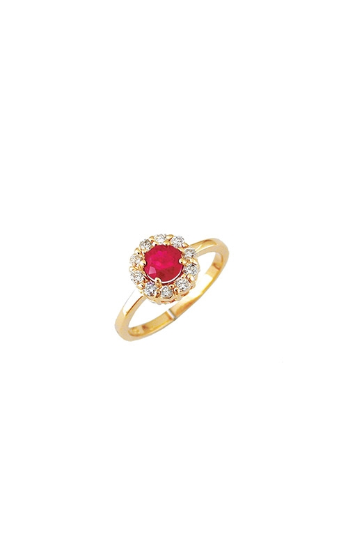 Albert's 14k Yellow Gold 1.10ctw Ruby Halo Ring 3762RB product image