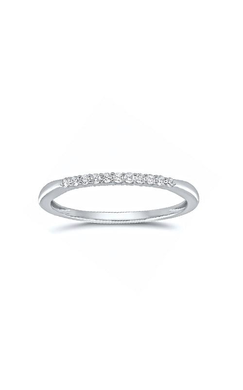 Albert's 10k White Gold 1/10ctw Round Diamond Wedding Band 4215260100W product image
