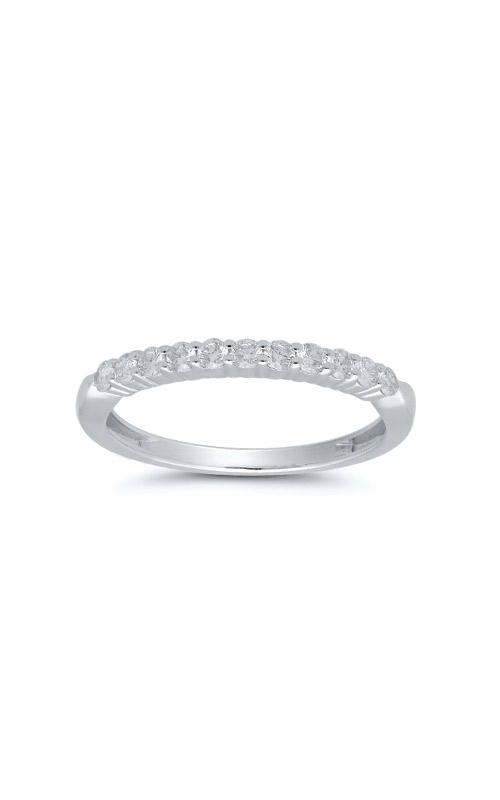 Albert's 14k White Gold .33ctw Round Diamond Wedding Band 4215260334W product image