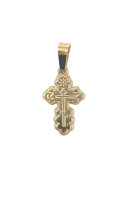 Albert's 14k Yellow Gold Extra Small Serbian Cross Charm 441 product image