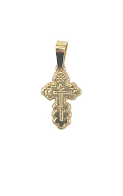 Albert's 14k Yellow Gold Extra Small Serbian Cross Charm 441 product image