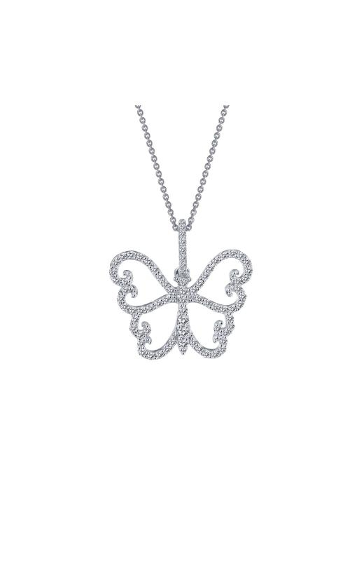 Albert's Sterling Silver CZ Butterfly Necklace 9P048CLP18 product image
