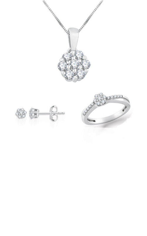 Albert's 3 Piece Sterling Silver 1/2ctw Lab Grown Diamond Gift Set 9WS00001X product image