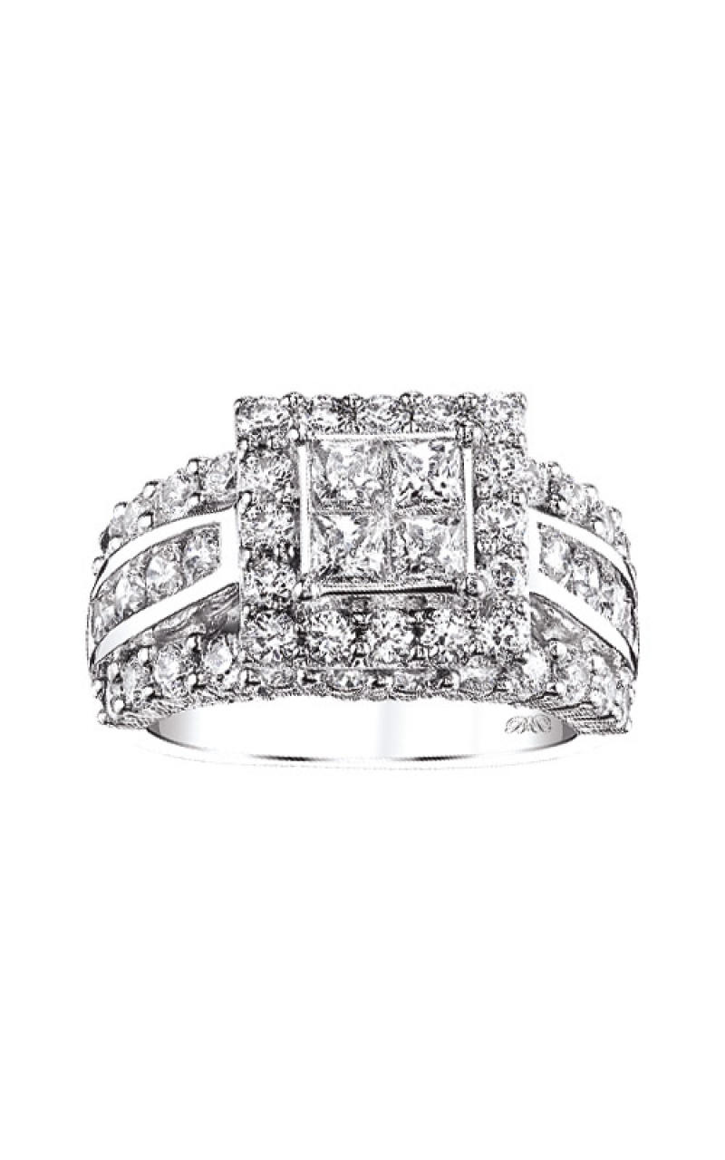 Albert's 14k White Gold 3ctw Engagement Ring RE-8297BB-B56-14 product image