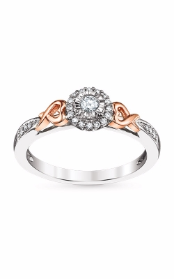 Albert's 10k White And Rose Gold Diamond Heart Promise Ring RP-1277TPA97T0 product image