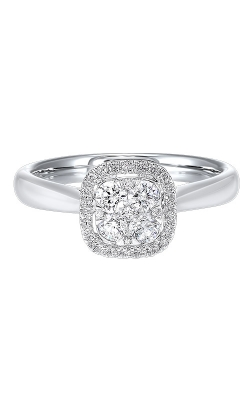 Albert's 14k White Gold 1/4ctw Cushion Diamond Ring RG10564-4WC product image