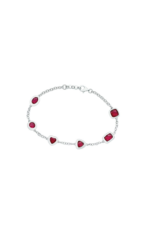 Albert's Sterling Silver Created Ruby Bracelet AB15393 RT product image