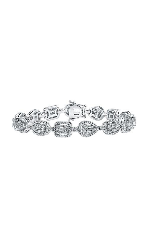 Albert's 14k White Gold 2 5/8ctw Brilliant and Baguette Diamond Bracelet AJ-B8851LJ product image