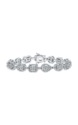Albert's 14k White Gold 2 5/8ctw Brilliant and Baguette Diamond Bracelet AJ-B8851LJ product image