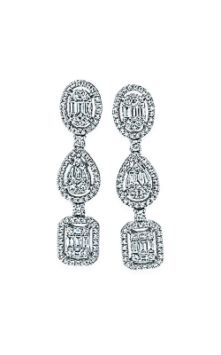 Albert's 14k White Gold Fancy Shape Diamond Earrings AJ-E5502 product image