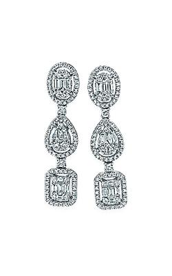 Albert's 14k White Gold Fancy Shape Diamond Earrings AJ-E5502 product image
