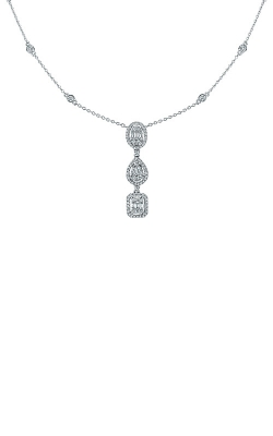 Albert's 14k White Gold 3/4ctw Fancy Shape Necklace AJ-N8393 product image