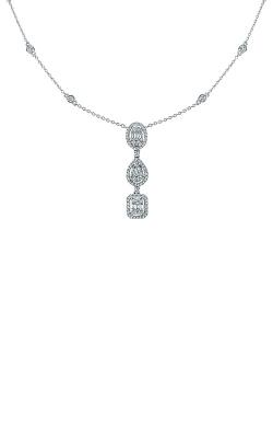 Albert's 14k White Gold 3/4ctw Fancy Shape Necklace AJ-N8393 product image
