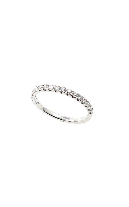 Albert's 14k White Gold .35ctw Round Diamond Wedding Band B10014-HW032A product image
