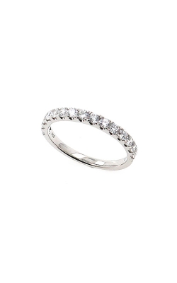 Albert's 14k White Gold .50ctw Round Diamond Wedding Band B10014-HW052A product image