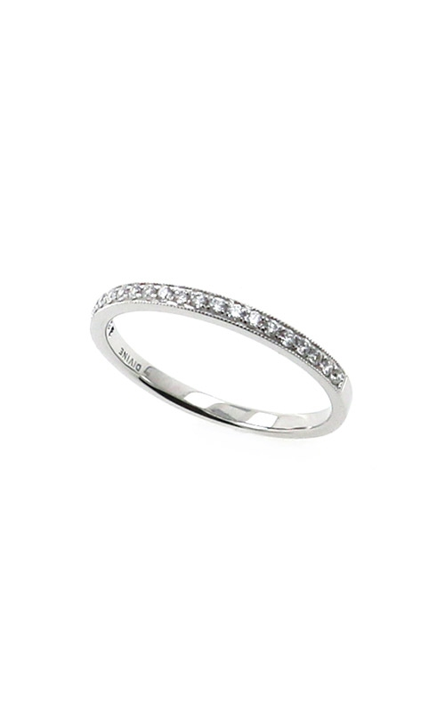 Albert's 14k White Gold .14ctw Round Pave Wedding Band B10016-HW012A product image