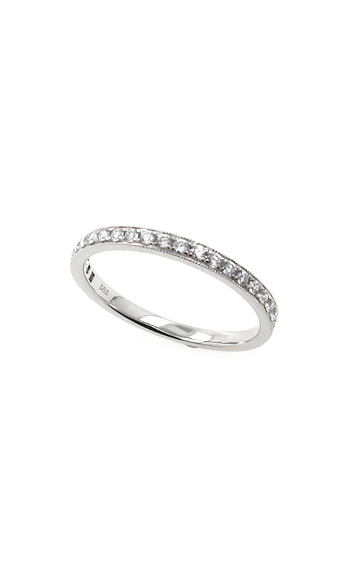 Albert's 14k White Gold .25ctw Pave Wedding Band B10016-HW022A product image