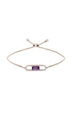 "Madison L 14k Rose Gold 9"" Adjustable .46ct Amethyst & .13ct Diamond Bracelet B1072AMP product image"