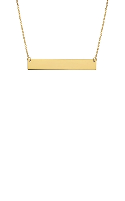 Albert's 14k Yellow Gold Bar Necklace BAR25-18 product image
