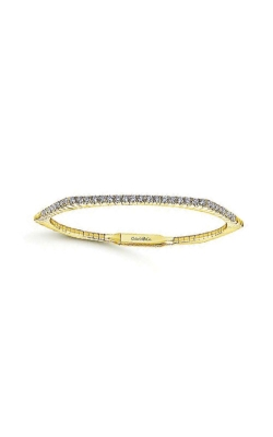 Albert's 14k Yellow Gold 1.02ctw Diamond Hexagon Bangle BG3968Y45JJ product image