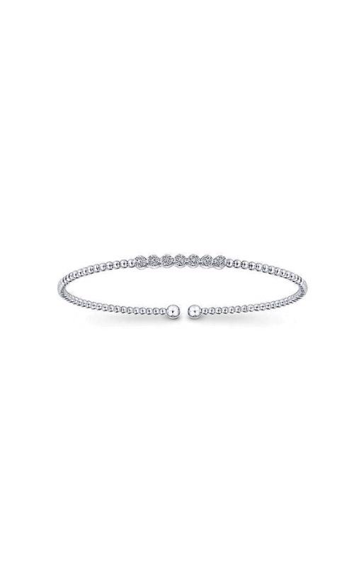 Albert's 14k White Gold .13ctw Diamond Bangle Bracelet BG4116-7W45JJ product image