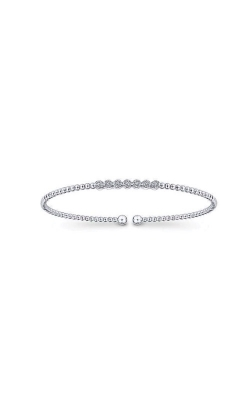 Albert's 14k White Gold .13ctw Diamond Bangle Bracelet BG4116-7W45JJ product image