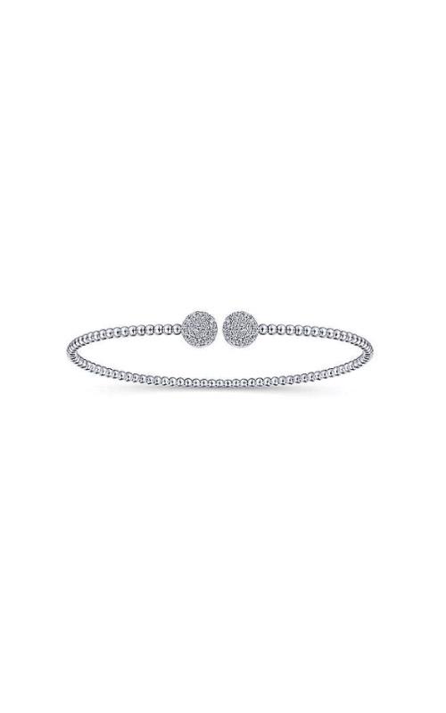 Albert's 14k White Gold .32ctw Diamond Bangle Bracelet BG4123-7W45JJ product image
