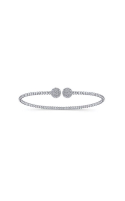 Albert's 14k White Gold .32ctw Diamond Bangle Bracelet BG4123-7W45JJ product image