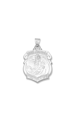 Albert's 14k White Gold Saint Michael Charm WM519HO product image