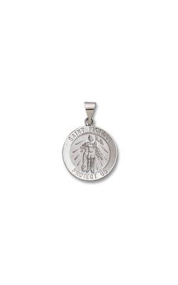 Albert's 14k White Gold Saint Florian Charm M438HO product image