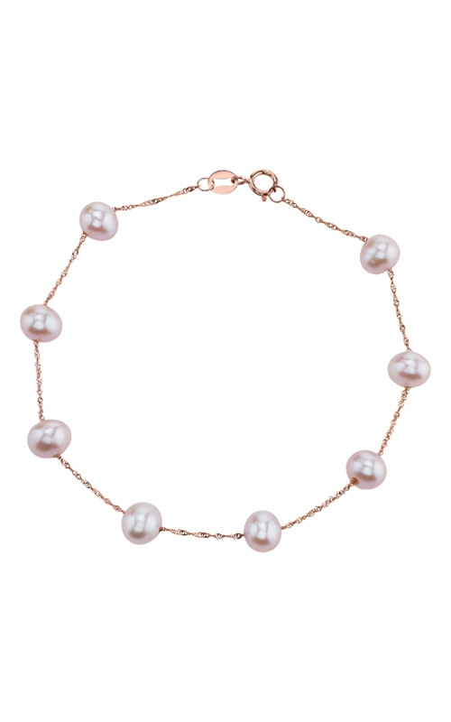 Albert's 14k Rose Gold Freshwater Pearl Bracelet BR01465PF product image