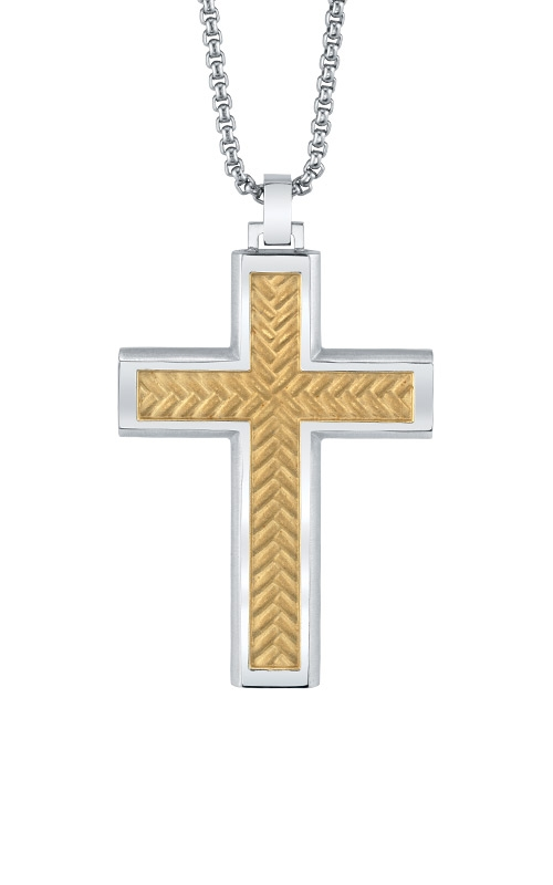 Albert's Steel with Gold Cross BS8472-SS-GIP product image