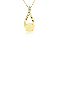 Albert's 14k Yellow Gold .90ctw Opal And Diamond Necklace C4827F product image
