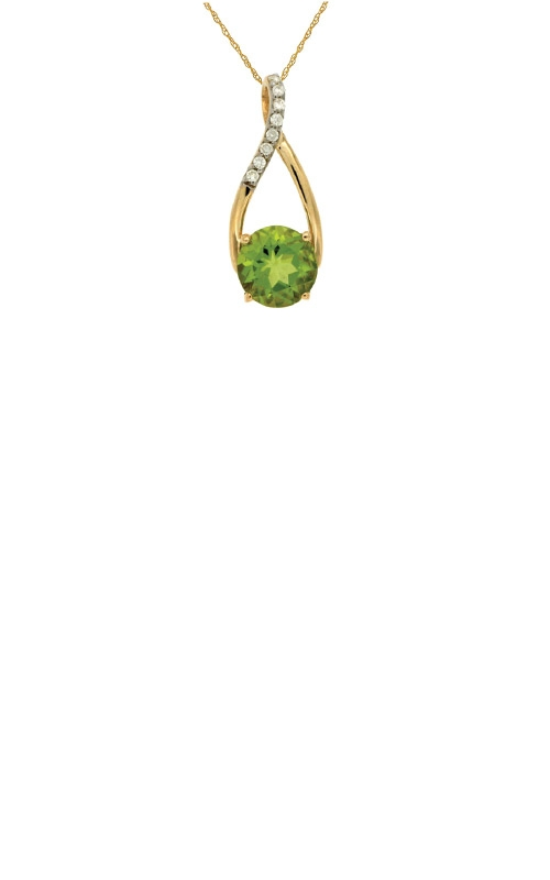 Albert's 14k Rose Gold 1.45ctw Peridot and Diamond Necklace C4827X product image