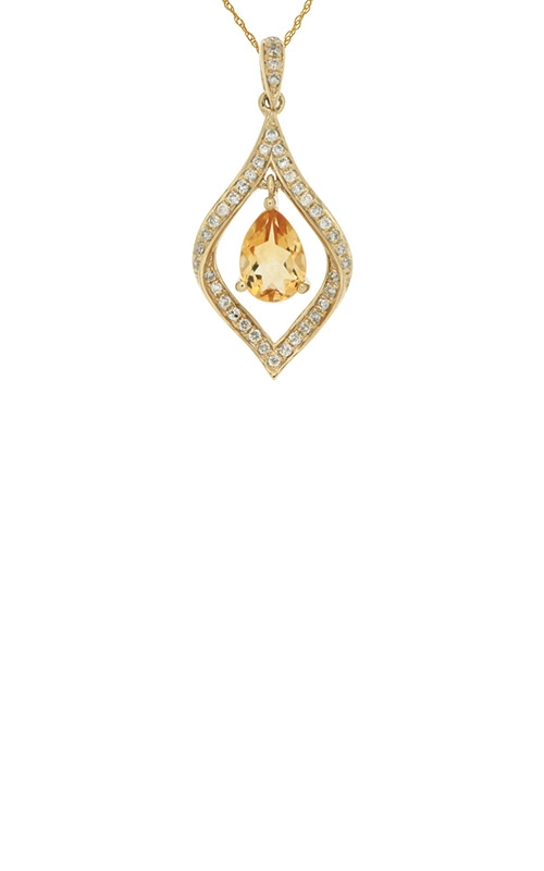 Albert's 14k Yellow Gold .77ctw Citrine and Diamond Necklace C5993C product image