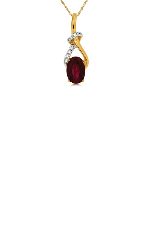 Albert's 14k Yellow Gold .96ctw Ruby and Diamond Necklace C6058RB product image